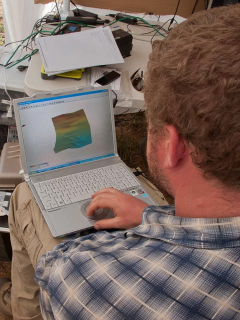 Chris Haberle reviews his first successfully acquired set of bathymetry